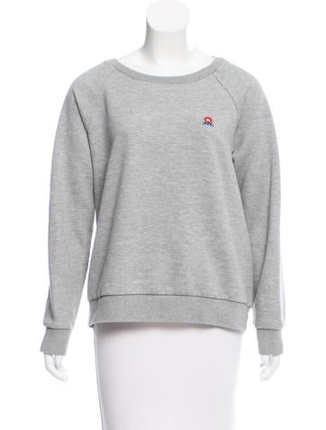 Sonia by Sonia Rykiel Embroidered Scoop Neck Sweatshirt None