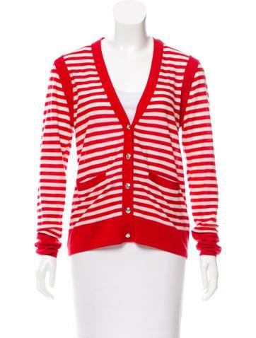 Sonia by Sonia Rykiel Stripe Wool-Blend Cardigan w/ Tags None