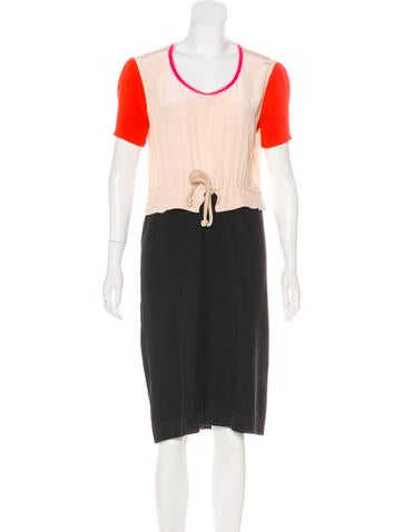 Sonia by Sonia Rykiel Short Sleeve Midi Dress None
