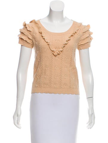 Sonia by Sonia Rykiel Ruffle Accented Knit Top None