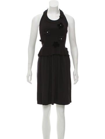 Sonia by Sonia Rykiel Halter Knee-Length Dress None