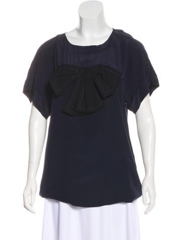 Sonia by Sonia Rykiel Silk Short Sleeve Top None
