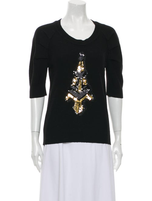 Sonia by Sonia Rykiel Scoop Neck Sweater Black