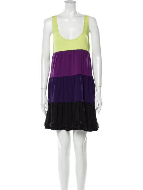 Sonia by Sonia Rykiel Striped Mini Dress Purple