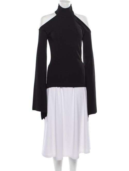Solace London Turtleneck Long Sleeve Top Black