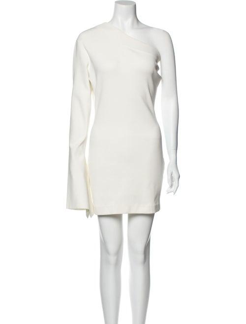Solace London One-Shoulder Mini Dress White