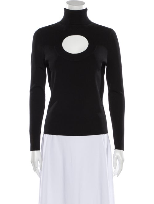 Solace London Turtleneck Long Sleeve Top Black