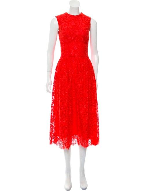 Sophia Kah Fluted Lace Dress