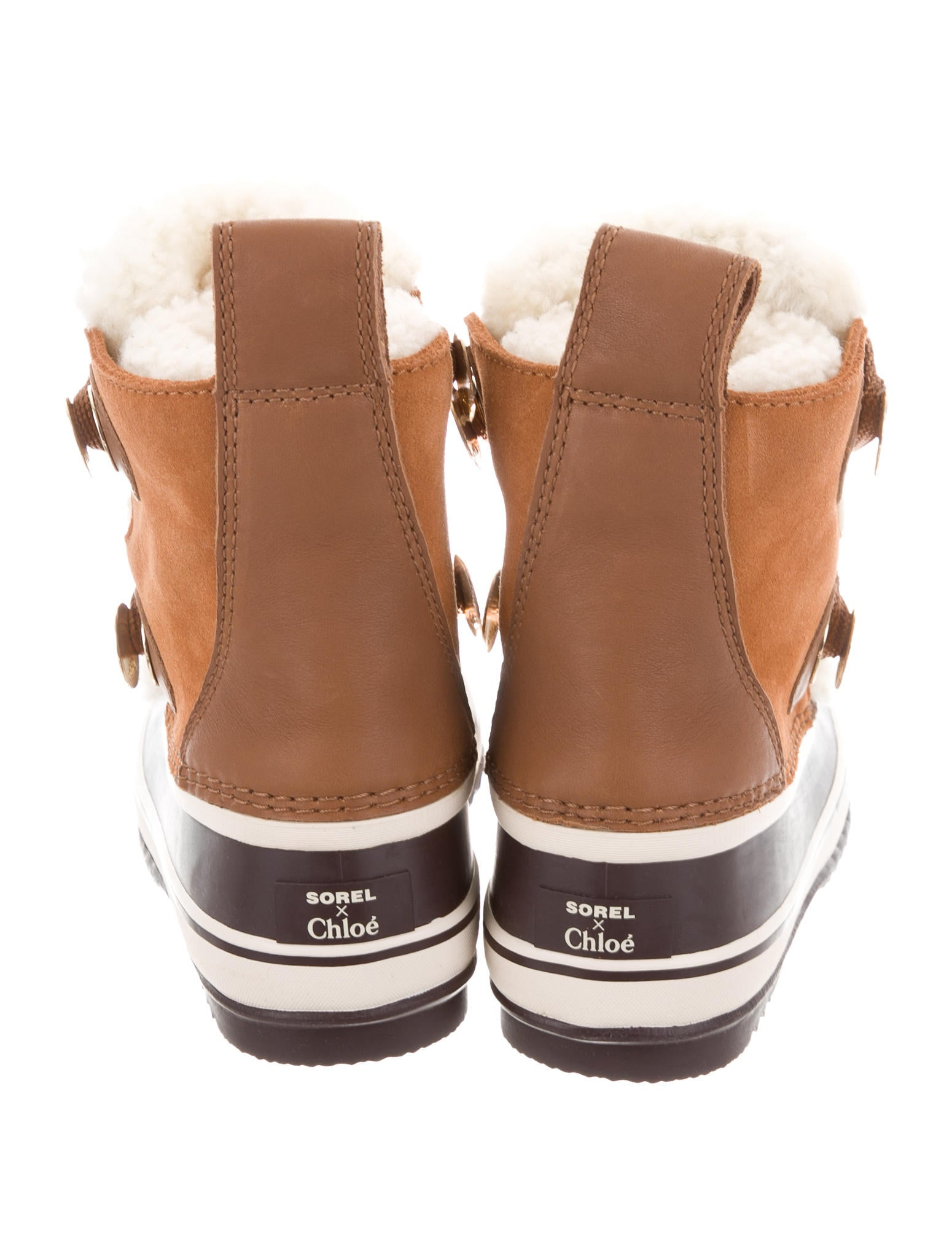 Sorel X Chlo 233 2018 Shearling Trimmed Ankle Boots Shoes