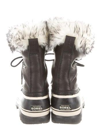 Caribou Fur-Trimmed Boots