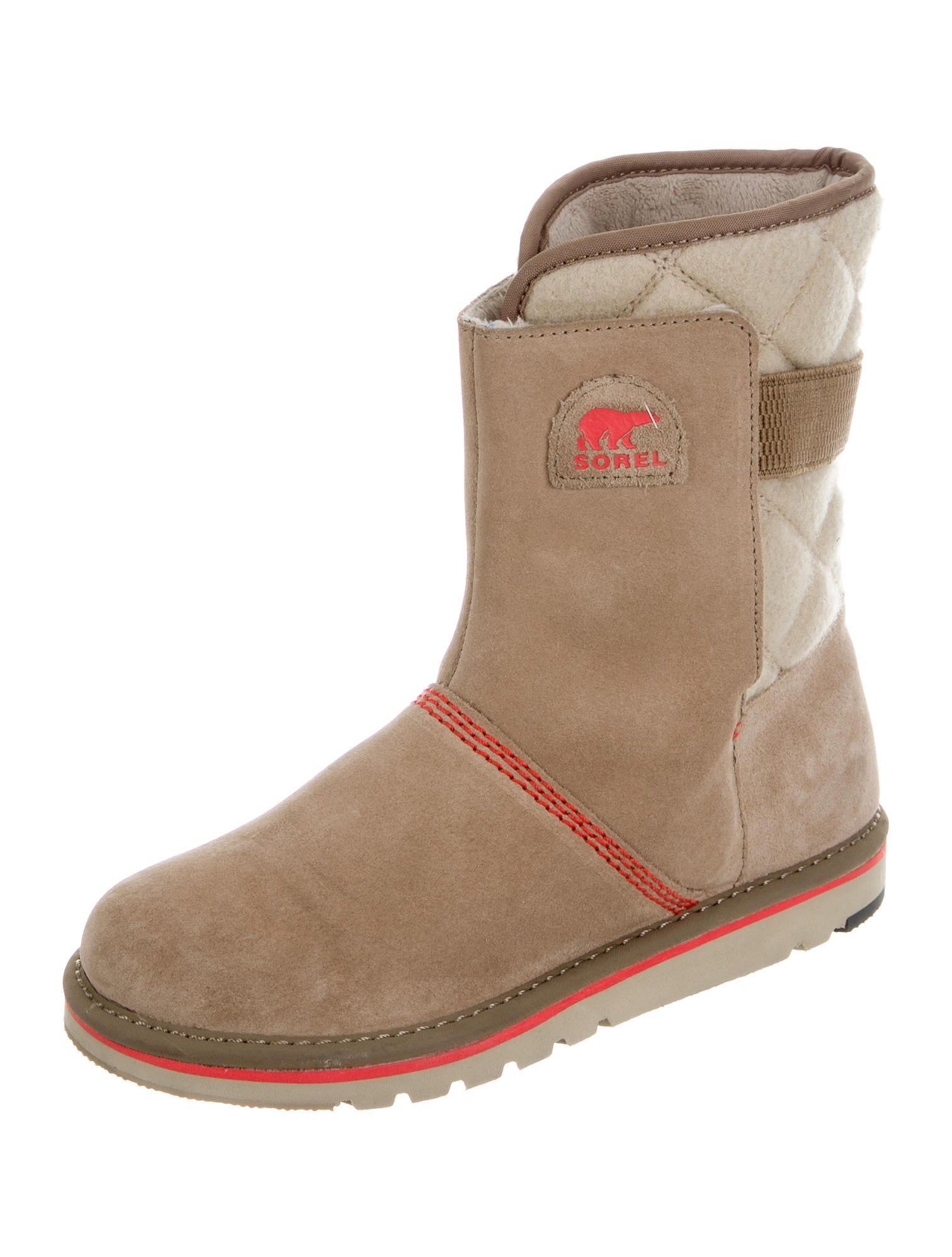 sorel suede snow boots shoes wsorl20146 the realreal
