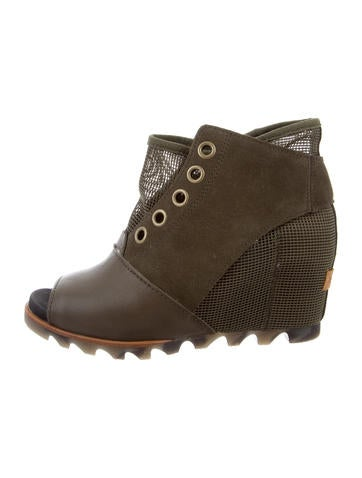 Sorel Mesh Peep-Toe Booties None
