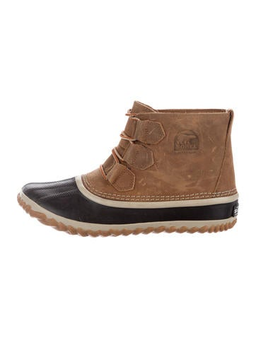 Sorel Leather Lace-Up Booties None