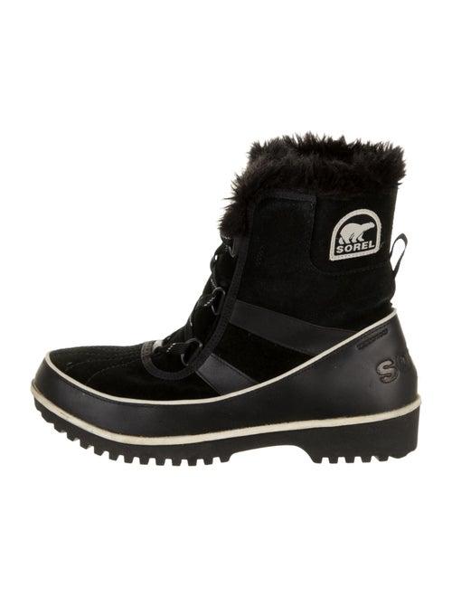 Sorel Suede Snow Boots Black