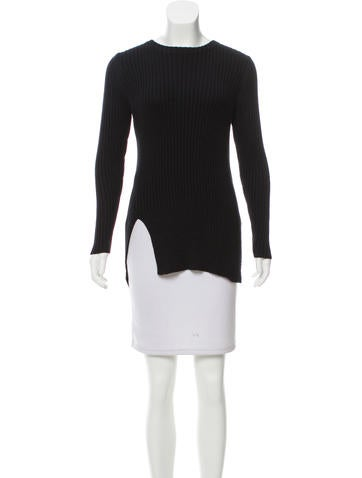 Soyer Asymmetrical Ribbed Sweater None