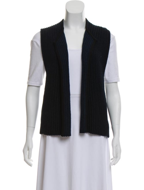 Soyer Merino Wool Sleeveless Cardigan black