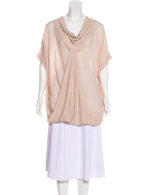 Soyer Linen Short Sleeve Sweater Pink