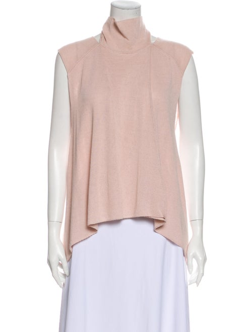 Soyer Turtleneck Sleeveless Top Pink