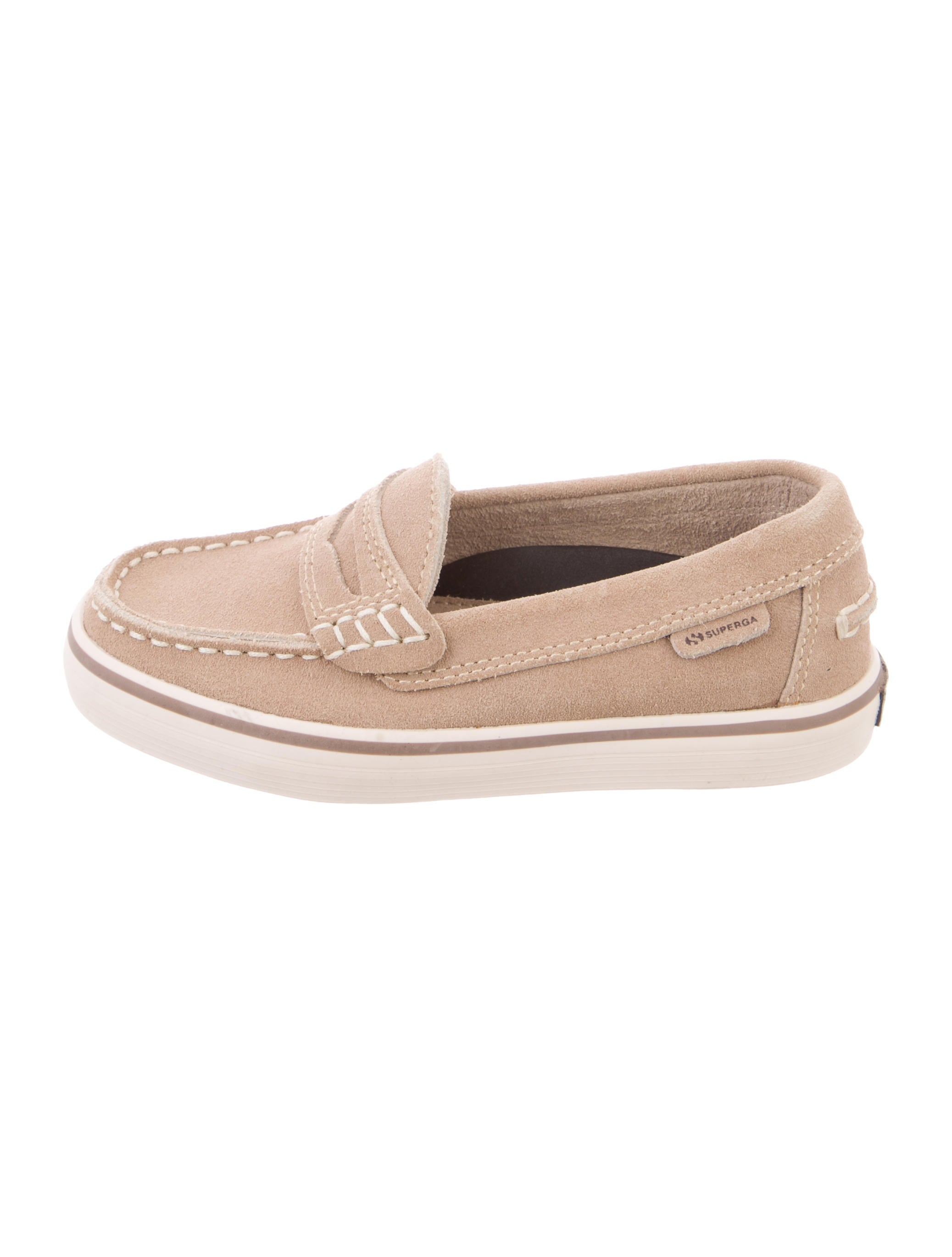 Superga Boys' Suede Round-Toe Loafers