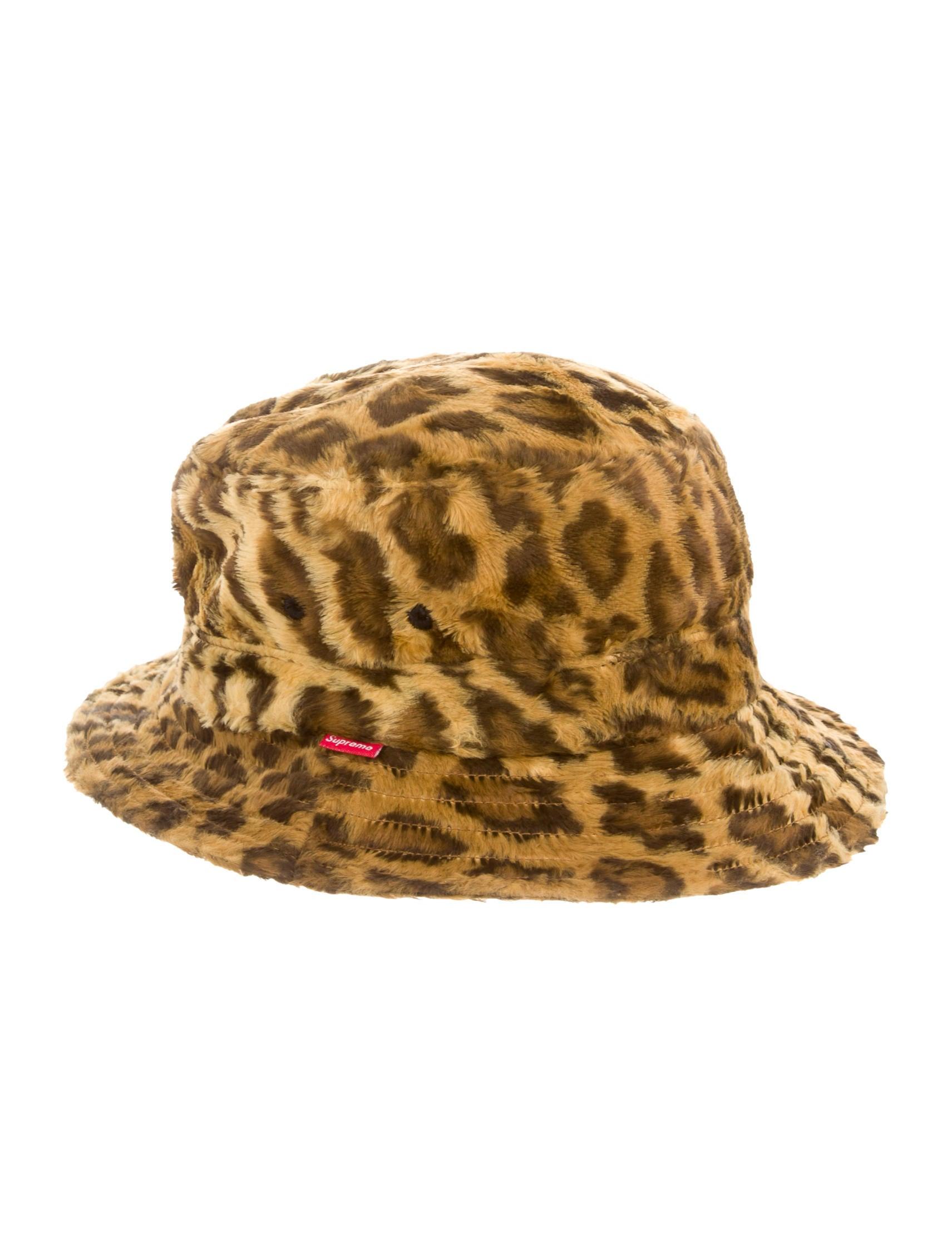 Supreme Leopard Print Bucket Hat - Accessories - WSPME20113  d0254ebb077