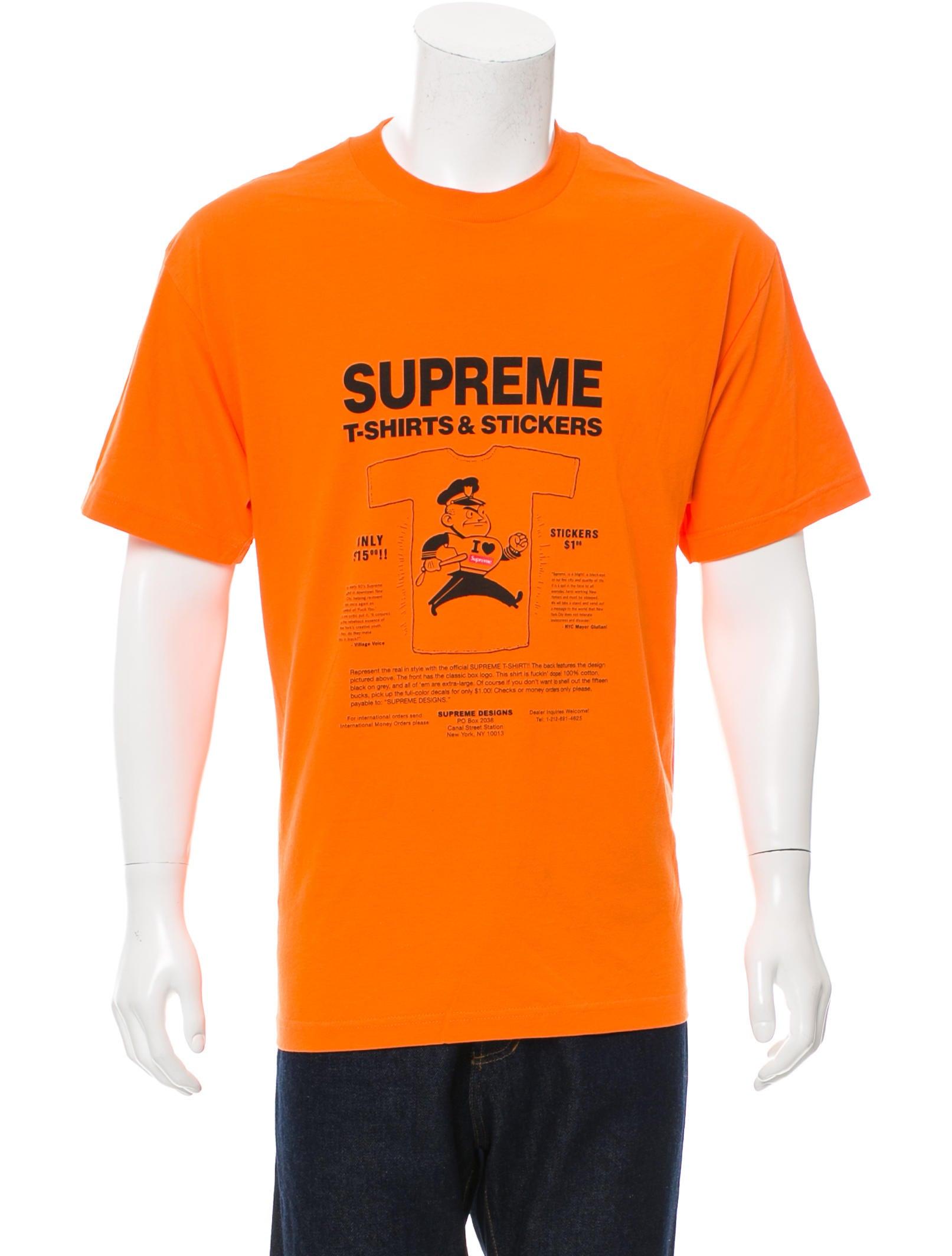 supreme t shirt stickers logo t shirt clothing. Black Bedroom Furniture Sets. Home Design Ideas