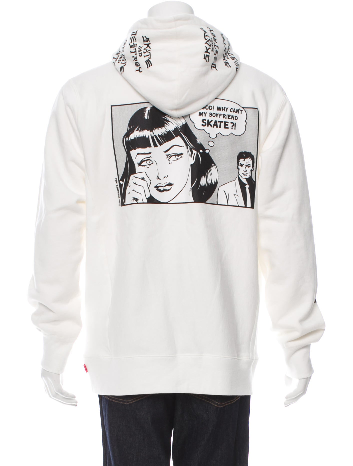 Supreme Graphic Drawstring Hoodie Clothing Wspme20227