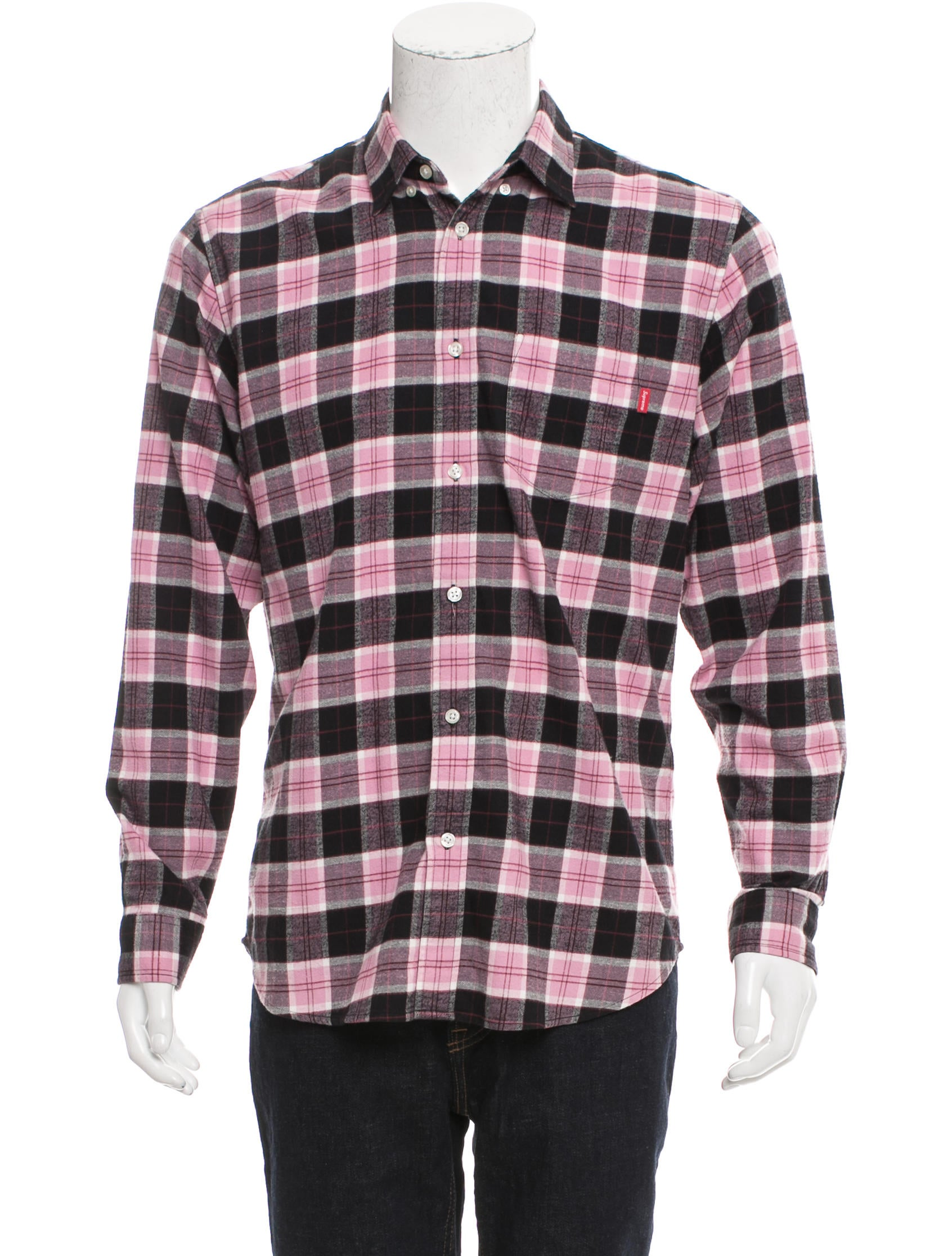supreme flannel button up shirt clothing wspme20320