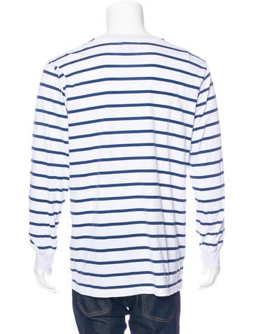 Supreme Striped Long Sleeve T Shirt Clothing