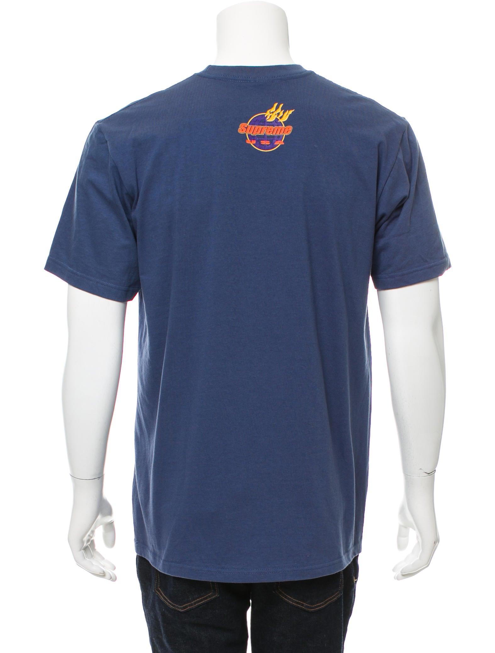 Supreme usa flame print t shirt clothing wspme20928 for T shirt printing usa