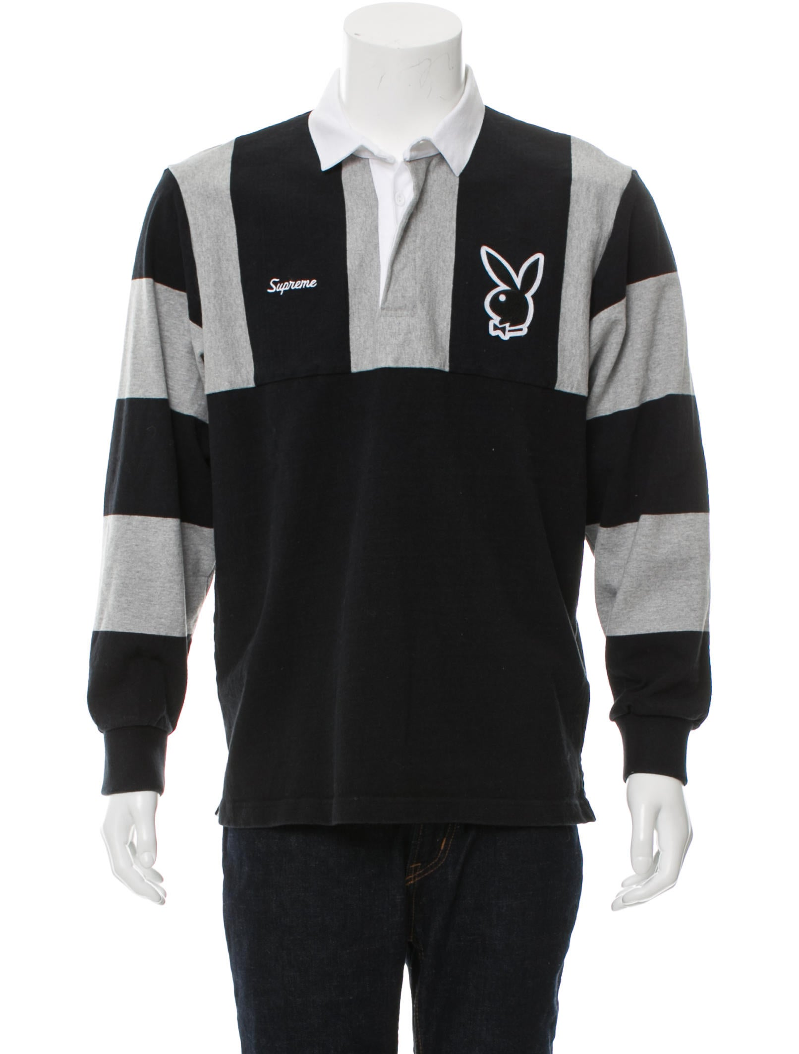 d760d0fe04d Supreme Playboy Rugby Polo Shirt - Clothing - WSPME20993 | The RealReal
