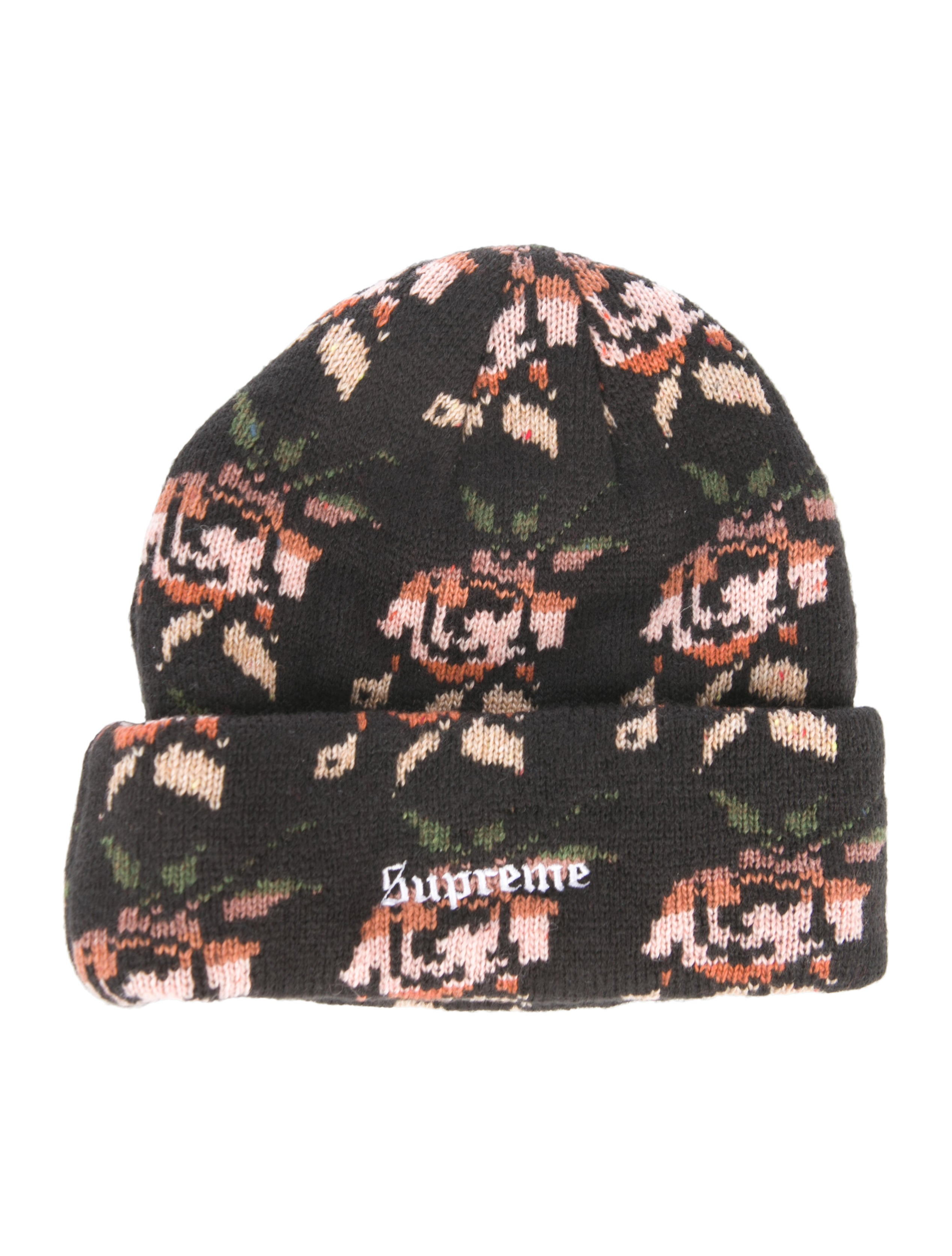 c36f08b4f9f16 Supreme 2018 Wool-Blend Rose Jacquard Beanie - Accessories ...