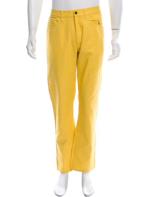 Supreme Straight-Leg Jeans yellow