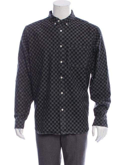 Supreme Checkered Chambray Shirt black