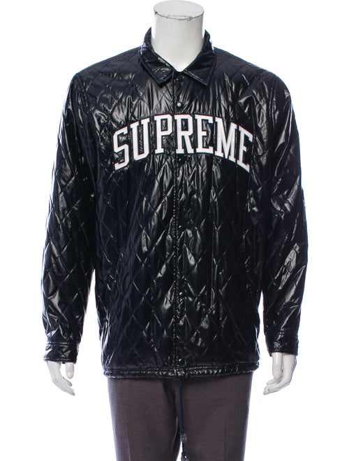 Supreme Quilted Arc Logo Coaches Jacket navy
