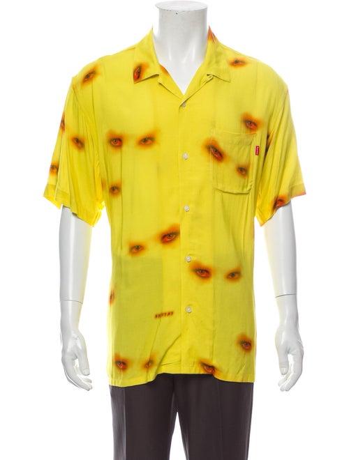 Supreme 2019 Eyes Rayon Shirt Shirt w/ Tags Yellow