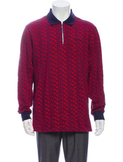 Supreme 2018 Floral Jacquard Polo Shirt Red