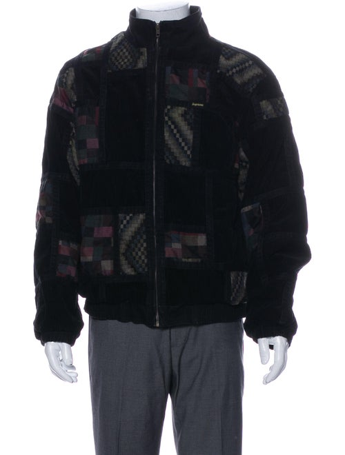 Supreme Corduroy Patchwork Jacket Black