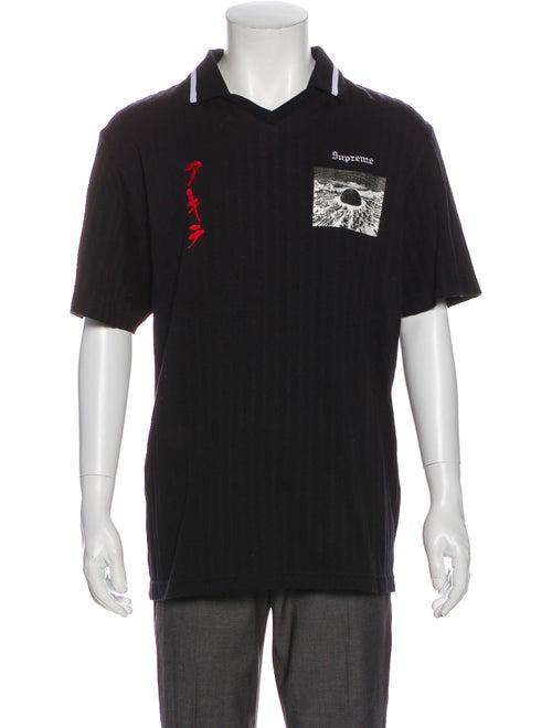 Supreme 2017 Akira Soccer Polo Shirt Black