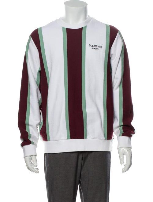 Supreme 2017 Striped Sweatshirt White