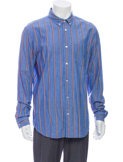 Supreme Striped Long Sleeve Shirt Blue