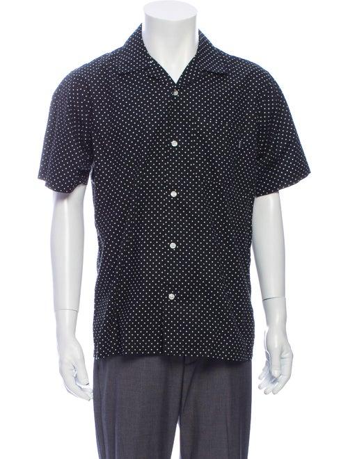 Supreme Polka Dot Print Short Sleeve Shirt Black