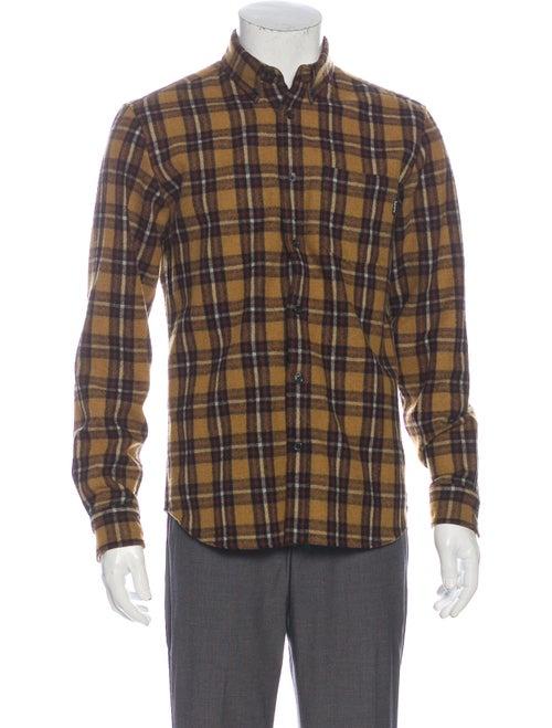 Supreme Wool Plaid Print Shirt Wool