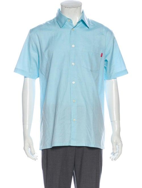 Supreme 2017 Light S/S Oxford Shirt Blue