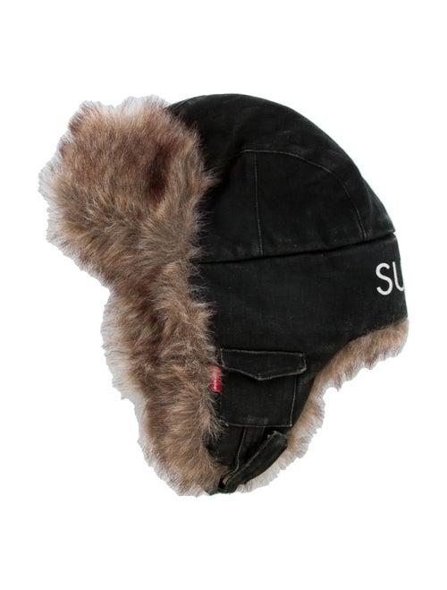 Supreme Denim Trooper Hat black
