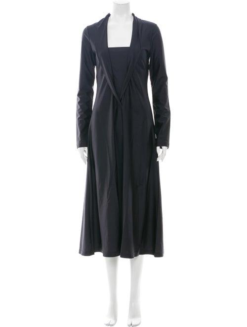 Saks Potts Square Neckline Long Dress Black