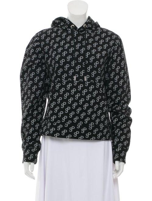 Saks Potts Printed Crew Neck Sweater Black - image 1