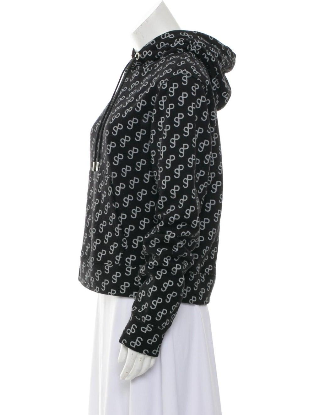 Saks Potts Printed Crew Neck Sweater Black - image 2