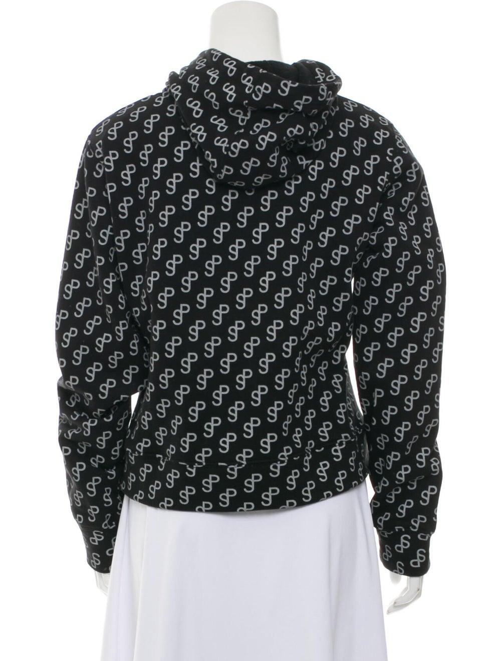Saks Potts Printed Crew Neck Sweater Black - image 3