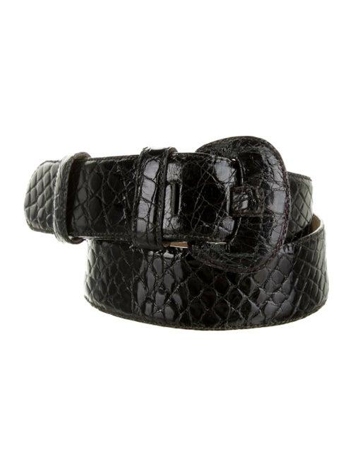 Saks Potts Embossed Waist Belt Black