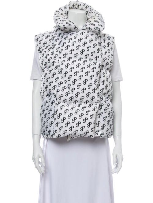 Saks Potts Printed Vest White